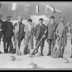 Rok 1924. Švédsky a anglický curlingový tím. (netmag.sk)