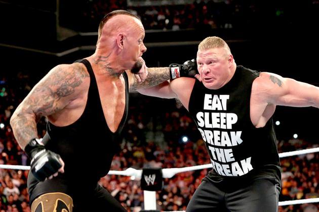 The Undertaker vs. Bruce Lesnar (bleacherreport.net)