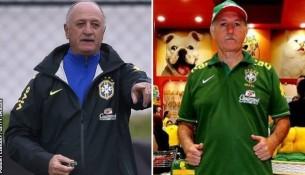 Vľavo Scolari a vpravo dvojník Palomo (bbc.co.uk)