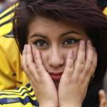 Kolumbijská kráska nemala veľmi radosť z vystúpenia svojich krajanov (sport.cz)
