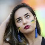 Nádherná fanúšička na MS vo futbale v Brazílii (sport.cz)