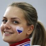 Ruská dievčina s namaľovaným srdiečkom (sport.cz)