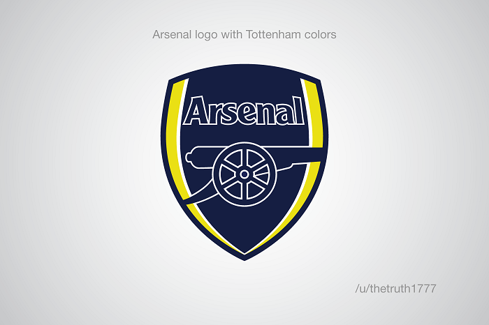 Arsenal with Tottenham colors (sportskeeda.com)