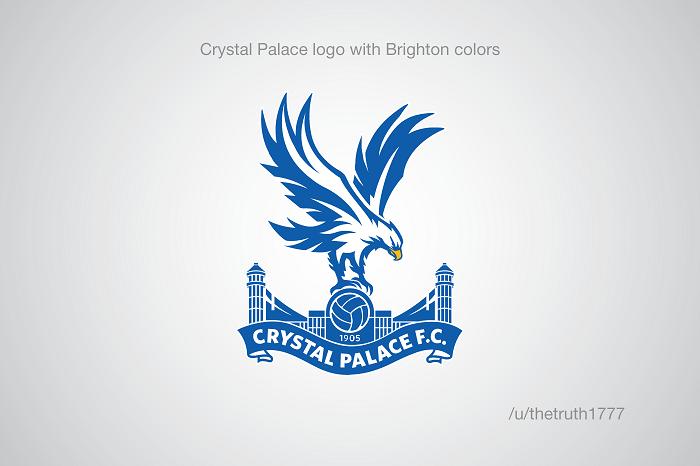 Crystal Palace vo farbách Brightonu(sportskeeda.com)