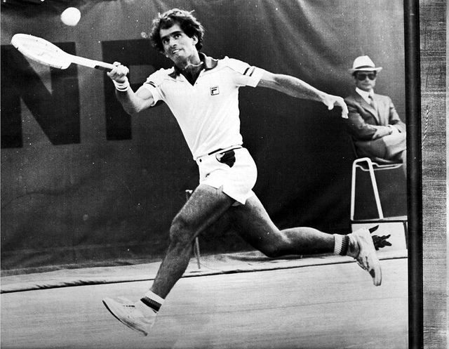 Harold Solomon, americký tenista a jeho return (flickr.com)