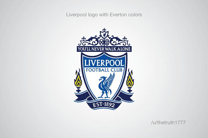 Liverpool vo farbách Evertonu(sportskeeda.com)