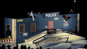Snowpark v štýle policajnej stanice (thestation.redbull.com)