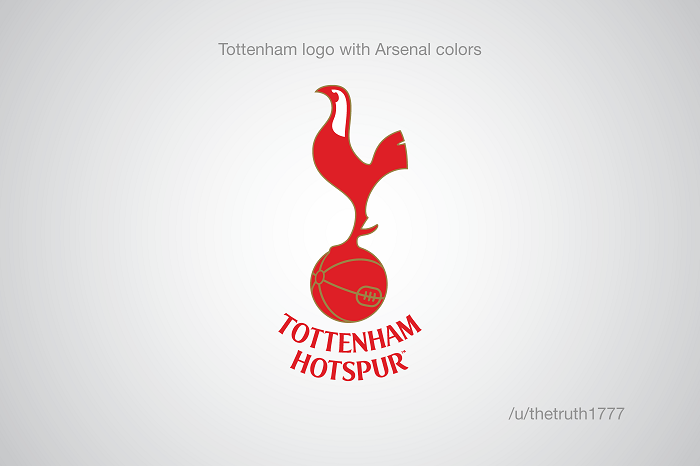 Tottenham vo farbách Arsenalu(sportskeeda.com)