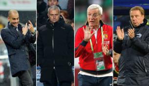 Jose Mourinho, Pep Guardiola, Marcello Lippi, Harry Redknapp (tv2.no)