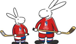 Maskoti hokejového šampionátu v Česku Bob a Bobek (iihf.com)