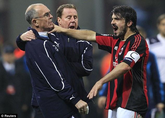Gennaro Gattuso si nedokázal udržať nervy na uzde (dailymail.co.uk)