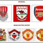Logá Arsenalu a Manchesteru United (profotbal.cz)