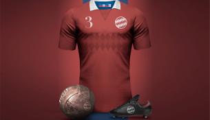 Retro dres Bayernu Mníchov (designboom.com)