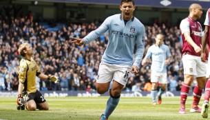 Sergio Aguero a jeho gólová radosť (movdata.net)