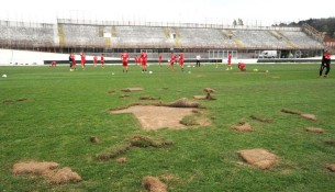 Zdevastovaný trávnik AS Varese (stadiums.at.ua)